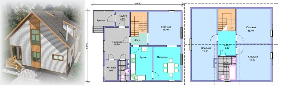 жилой дом 6х6 фото